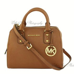 Michael Kors Handbag On White Background